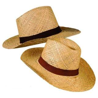 Chapeau Panama paille avec ruban