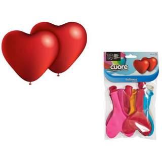 10 ballons forme coeur assortis