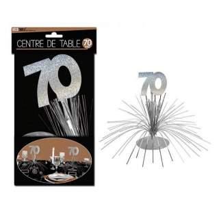 Centre de table anniversaire 70 ans