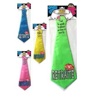 Cravate dédicace retraite
