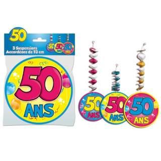 3 suspensions accordéons 50 ans