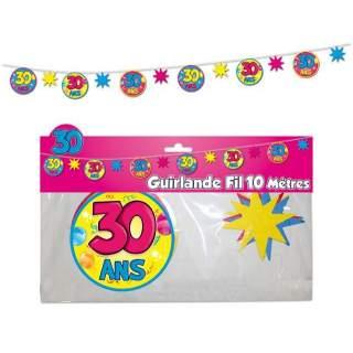 Guirlande fil 30 ans