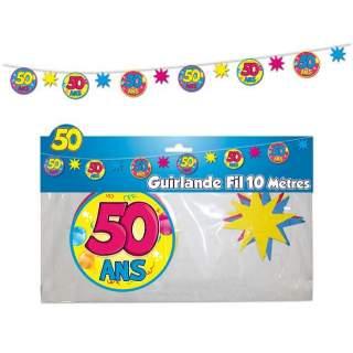 Guirlande fil 50 ans
