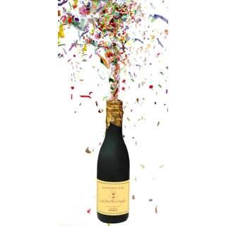 Bouteille champagne à confettis