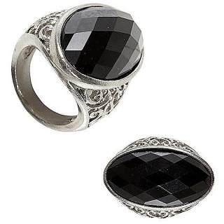 Bague gothique diamant noir