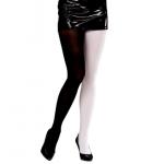 Collant bicolore noir et blanc