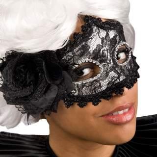 Masque carnaval noir et argent