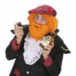 Moustache avec barbe rousse
