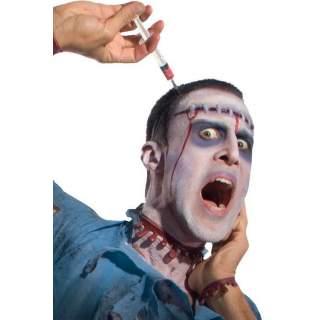 Serre-tête seringue plantée dans la tête