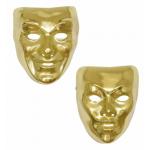 Masque plastique or et argent