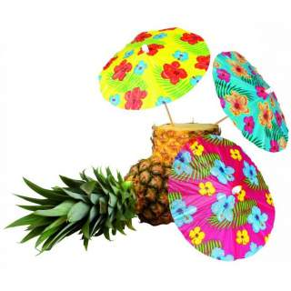 6 pics parasol Hawaï
