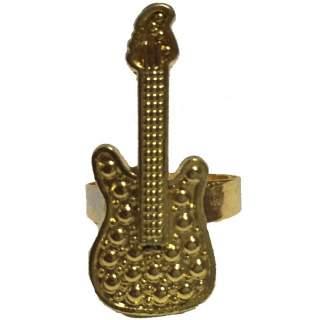 Bague guitare dorée