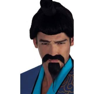 Moustache samouraï avec bouc