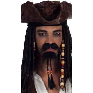 Moustache et bouc pirate