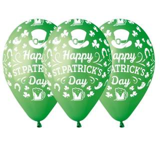 100 ballons vert Saint Patrick