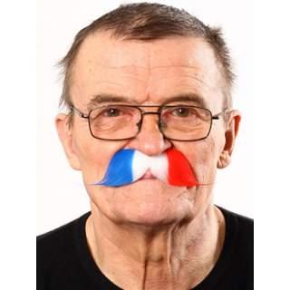 Moustache bleu blanc rouge