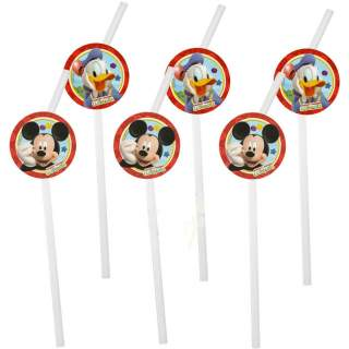 6 pailles Mickey Mouse Clubhouse