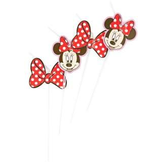 6 pailles Minnie Mouse