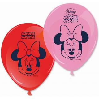 8 ballons Minnie Mouse
