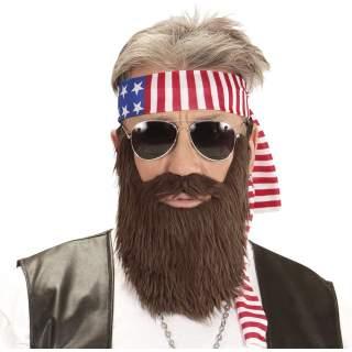 Accessoires biker barbe et bandeau