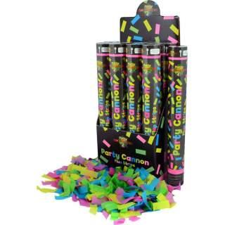 Canon à confettis fluorescents