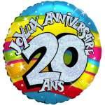 Ballon joyeux anniversaire 20 ans