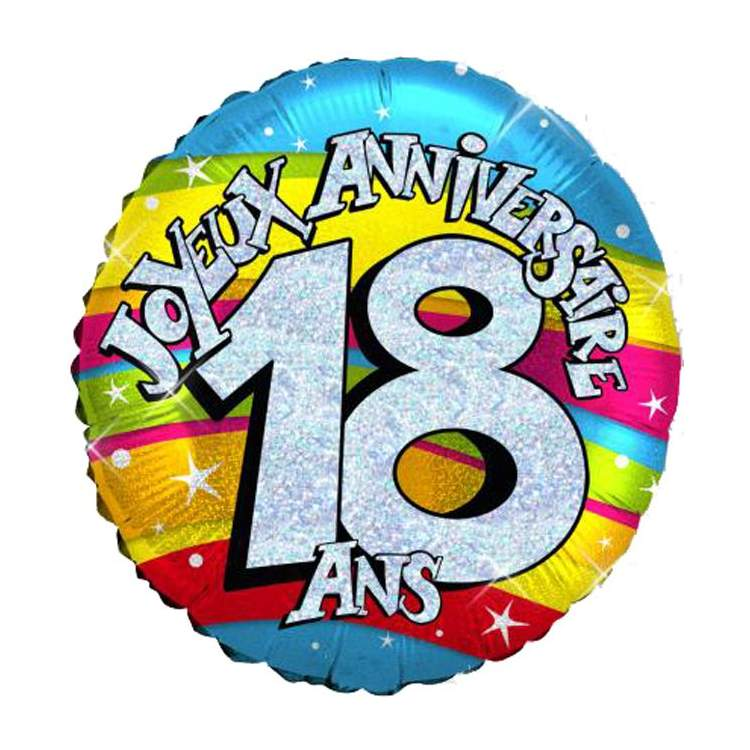 ballon joyeux anniversaire 18 ans m ga f te. Black Bedroom Furniture Sets. Home Design Ideas