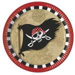 8 assiettes pirate