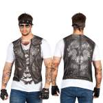 T-shirt photo réaliste biker