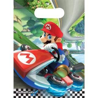 8 sachets cadeaux Mario Kart