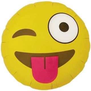 Ballon smiley clin d'oeil et tire la langue