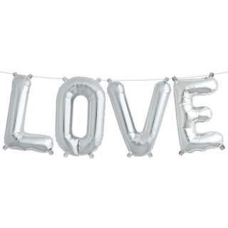 Ballons lettres Love argent