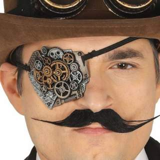 Cache oeil steampunk