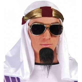 Turban avec voile blanc