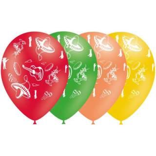 8 ballons thème Mexique