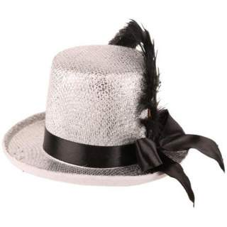 Mini chapeau haut de forme argent