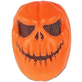 Masque monstre citrouille orange