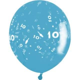Sachet de 10 ballons chiffre 10