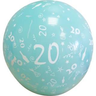 Sachet de 10 ballons chiffre 20