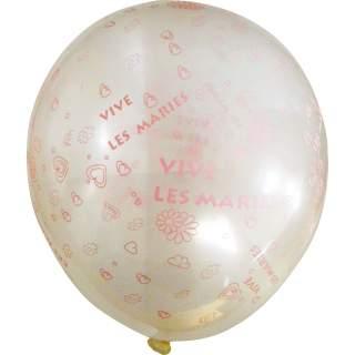 """100 ballons """"Vive les mariés"""""""
