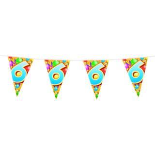 "Guirlande anniversaire chiffre ""6"""