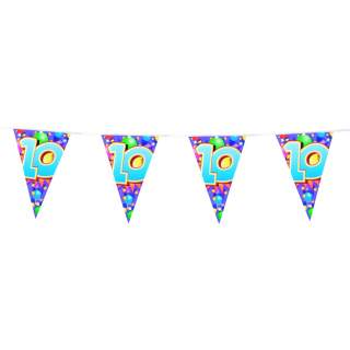 "Guirlande anniversaire chiffre ""10"""