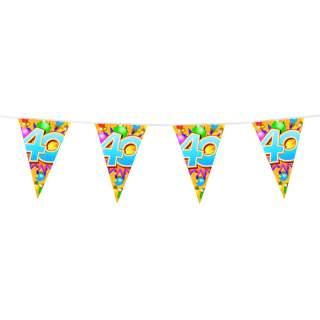 "Guirlande anniversaire chiffre ""40"""