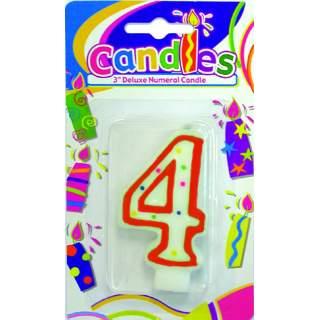 """Bougie anniversaire chiffre """"4"""""""