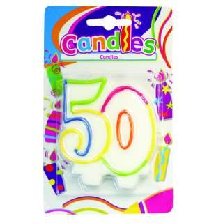 """Bougie anniversaire chiffre """"50"""""""