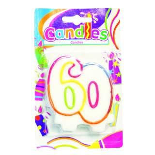 """Bougie anniversaire chiffre """"60"""""""