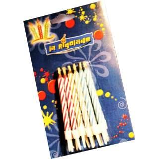 Blister de 12 bougies magiques