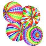 Lampion ballon bariolé