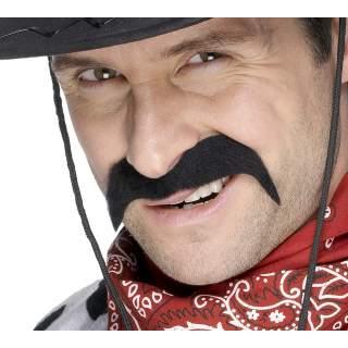 Moustache cow-boy noire