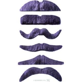 Pack de 12 moustaches grises